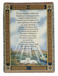 23rd Psalm Tapestry Throw from Sidney Flower Shop in Sidney, OH