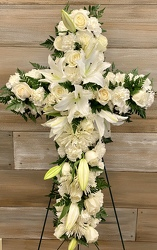 STANDING CROSS SPRAY from Sidney Flower Shop in Sidney, OH