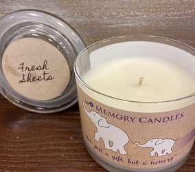 "CANDLE ""FRESH SHEETS"" from Sidney Flower Shop in Sidney, OH"