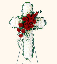 SYMPATHY CROSS from Sidney Flower Shop in Sidney, OH