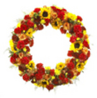 Autumn flower wreath from Sidney Flower Shop in Sidney, OH