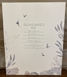 """REMEMBER ME"" MEMORY BOARD from Sidney Flower Shop in Sidney, OH"