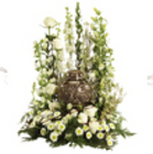 Sympathy Urn all White from Sidney Flower Shop in Sidney, OH
