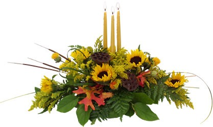 A perfect Autumn Centerpiece from Sidney Flower Shop in Sidney, OH