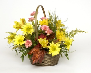 Sunshine Basket Bouquet from Sidney Flower Shop in Sidney, OH