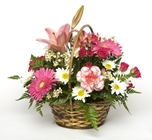 The Pink Basket bouquet from Sidney Flower Shop in Sidney, OH