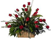 A basket of Red Roses from Sidney Flower Shop in Sidney, OH