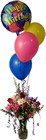 Happy Birthday Bouquet and Balloons from Sidney Flower Shop in Sidney, OH