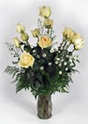 Dozen Yellow Roses Vased from Sidney Flower Shop in Sidney, OH