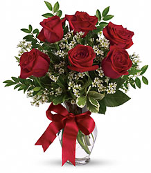 FOR YOU- 6 RED ROSES WITH FILLER from Sidney Flower Shop in Sidney, OH